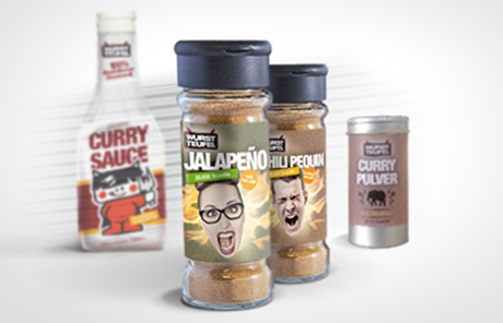 Chilipulver, Currypulver, Currysauce, Jalapeno, Habanero